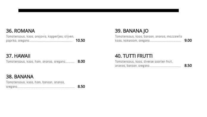 menu deel 3 de italiaan