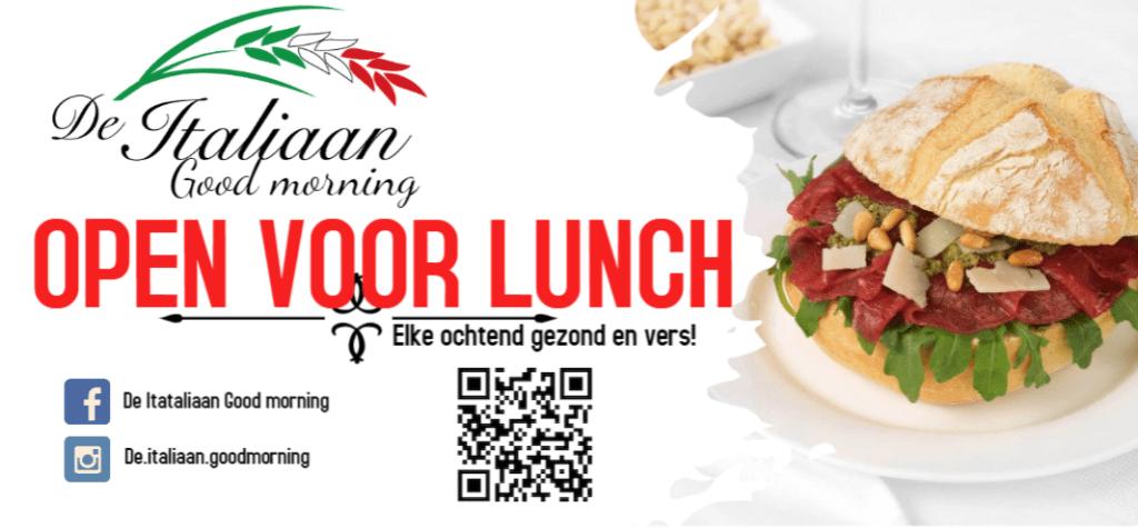 De Italiaan Good Morning Open voor lunch